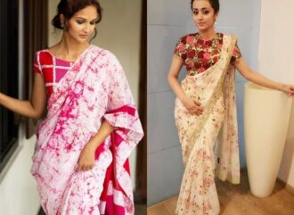 How can I look attractive in saree?