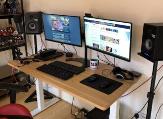 Review table stand high flexispot e7b
